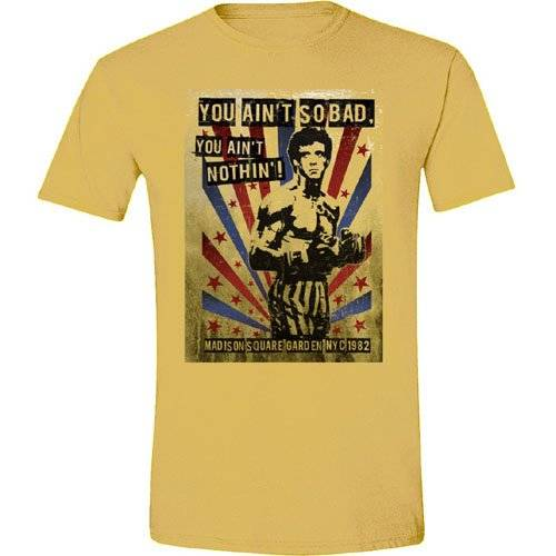 Rocky You Ain't Nothing - Camiseta manga corta para hombre, color beige, talla L