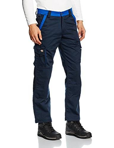 Dickies Mens industry 300 Two Tone Workwear Trousers Navy IN30030N, Azul (Marine/Royal), 98
