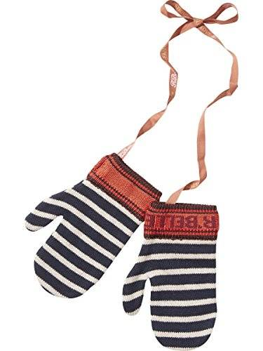 Scotch & Soda R'Belle Knitted Stripe Mittens, Guantes para Niñas, Multicolor (Combo P 595), Small