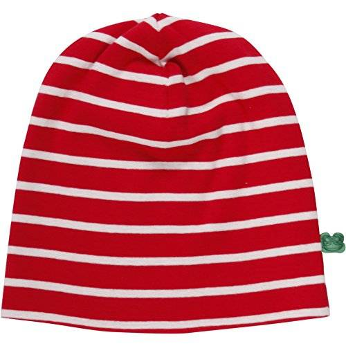 Fred's World by Green Cotton Stripe Beanie, Sombrero Unisex Bebé, Rot (Red/Cream 019800008), Large