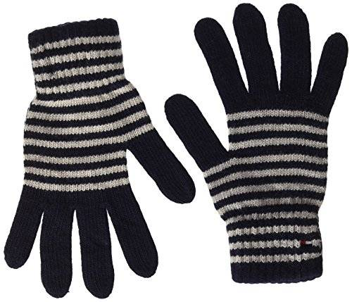 Tommy Hilfiger Tommy Stripes Gloves, Guantes para Mujer, Azul (Navy), (Tamaño del Fabricante:OS)