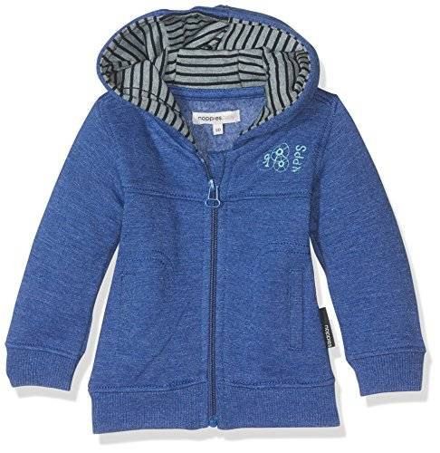 Noppies B Sweat Haslett, Cárdigan Unisex Bebé, Blue Melange, 62 cm
