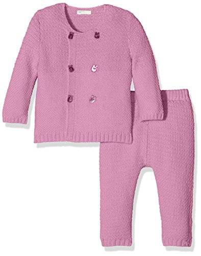 United Colors of Benetton 1232Z594N, Conjunto de Ropa para Bebés, Pink (Lilac/Pink), 12 meses