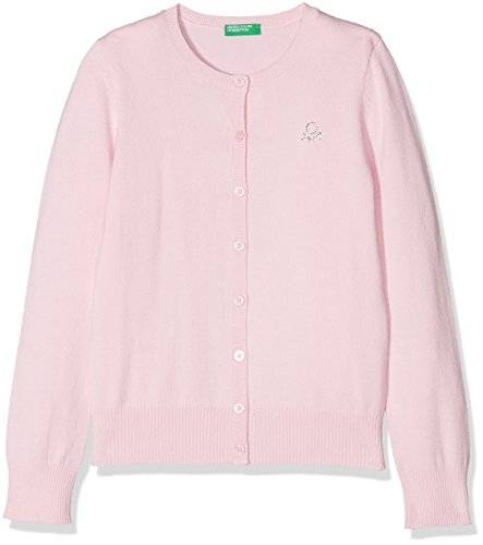 United Colors of Benetton L/s Sweater, Suéter para Niñas, Rosa (Pink Lady 09h), Talla única (Talla del fabricante: KL)