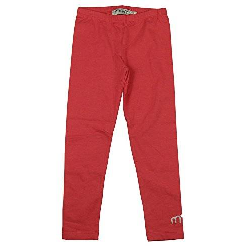 Minymo Basic 79 -Leggings -Solid - Pantalones Niñas, color rojo, talla 80 cm