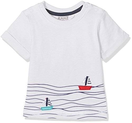 Kanz T-Shirt 1/4 Arm, Camiseta para Niñas, Blanco (Bright White 1000), 62 cm