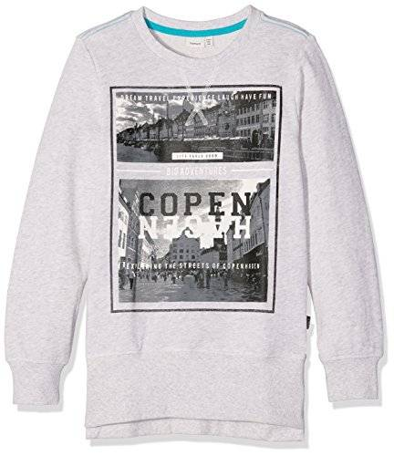 NAME IT NITKONKER SLIM LONG SWEAT BOX NMT, sudadera Niñas, Gris (Light Grey Melange), 122