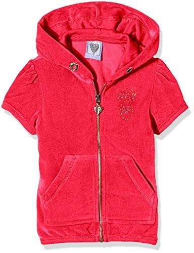 The North Face Short Sleeve Zip Hoodie, Top para Niños, Rosa (Hot Pink), 6-7 Años