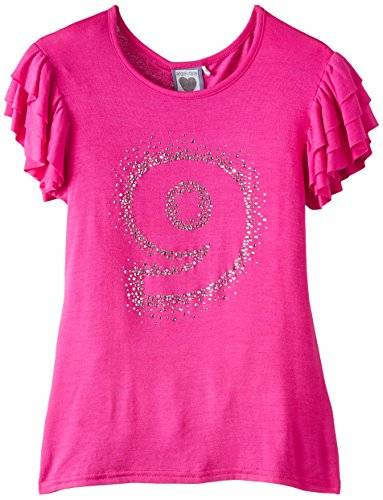 The North Face Angels Face Birthday T No 9 Triple Sleeve Bright Pink - Camiseta para niñas, color rosa - hellrosa, talla 9 años