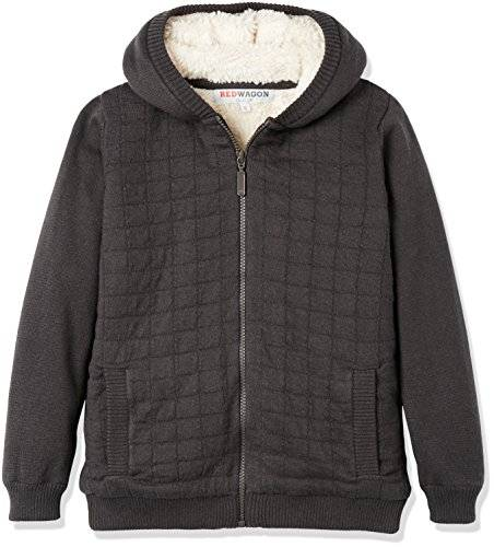 RED WAGON REDWAGON Quilted Borg Knit - Capucha Niños, Gris (Grey), 5 años
