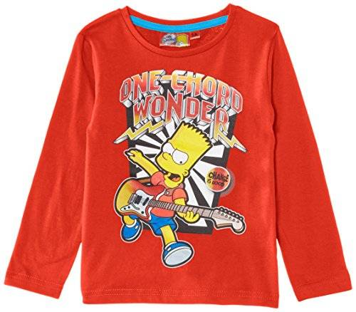 Fox The Simpsons NH1315 - Camiseta de manga larga para niño, Orange (Spicy Orange), 4 aos (104 cm)
