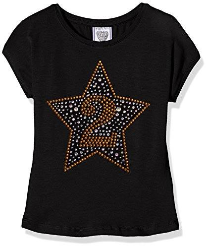 The North Face Birthday Star T-Shirt, Camiseta para Bebés, Negro, 2 Año