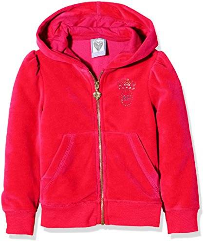 The North Face Long Sleeve Zip Hoodie, Top para Niños, Rosa (Hot Pink), 6-7 Años