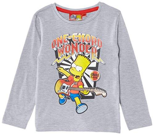 Fox The Simpsons NH1315 - Camiseta de manga larga para niño, color grau (light grey mélange), talla 3 años (98 cm)