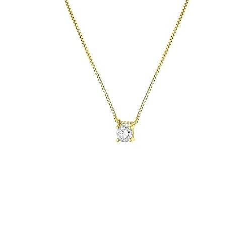 Diamonds & You – Collar con colgante – oro amarillo 9 cts – PREMIUM Diamant – 0.15 cts – 42 cm – am-9nk 20079-j