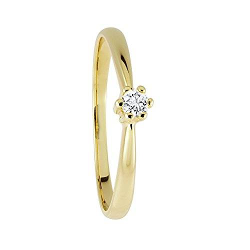 Diamond Line Mujer  9 k (375)  oro amarillo corte brillante redondo   blanco diamante FINERING