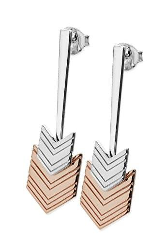 Lucy Quartermaine Two-Tone Flecha Pendientes