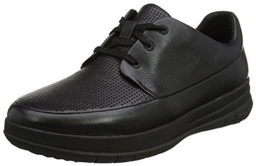 FitflopSporty-Pop Perforated Sneaker - Zapatilla Baja Hombre, Color Negro, Talla 42