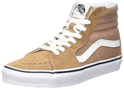 Vans Sk8-Hi Suede/Canvas, Zapatillas Unisex Adulto, Marrón (Tiger's Eye/True White), 42.5 EU