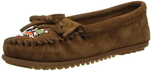 Minnetonka Me To We Maasai Moc - Mocasines, color Marrón, talla 41 EU / 10 US