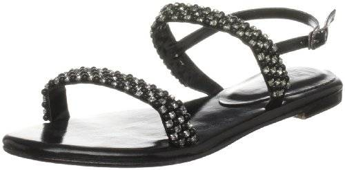 Unze Evening Sandals L18298W - Sandalias para mujer, color negro, talla 38