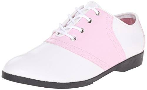 Pleaser PleaserSaddle 50 - Zapatos Planos con Cordones Mujer - Pink (B Pink/Wht PU) - 41 EU (8 UK)