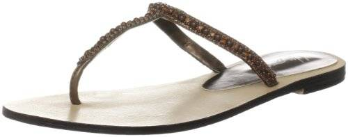 Unze Evening Slippers L18339W - Sandalias para mujer, color marrón, talla 40