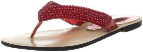 Unze Evening Slippers L18330W - Sandalias para mujer, color rojo, talla 38
