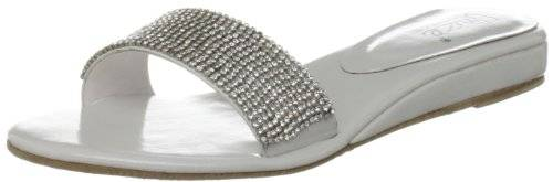 Unze Evening Sandals L18401W - Sandalias para mujer, color blanco, talla 36