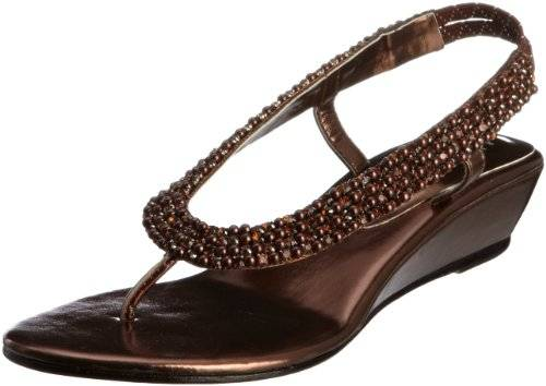 Unze Evening Sandals L18408W - Sandalias para mujer, color marrón, talla 37