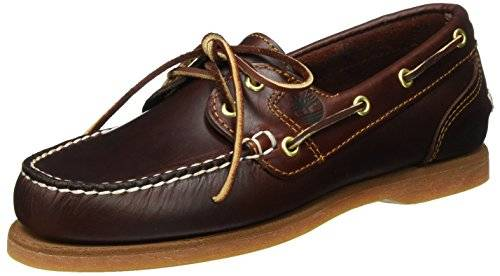 Timberland Classic Boat FTW_Classic Boat Amherst 2 Eye Boat Shoe Amherst Boat Shoe - Náuticos de cuero para mujer, color marrón, talla 36
