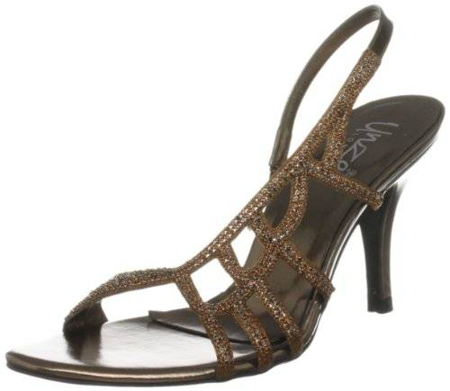Unze Evening Sandals L18206W - Sandalias para mujer, color marrón, talla 38
