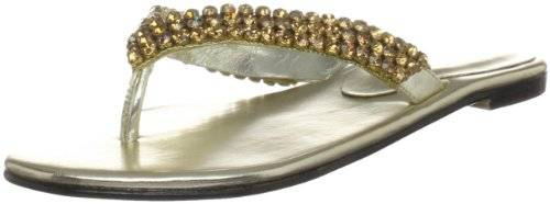 Unze Evening Slippers L18296W - Sandalias para mujer, color dorado, talla 40