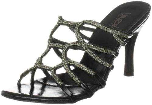 Unze Evening Sandals L18538W - Sandalias para mujer, color negro, talla 41