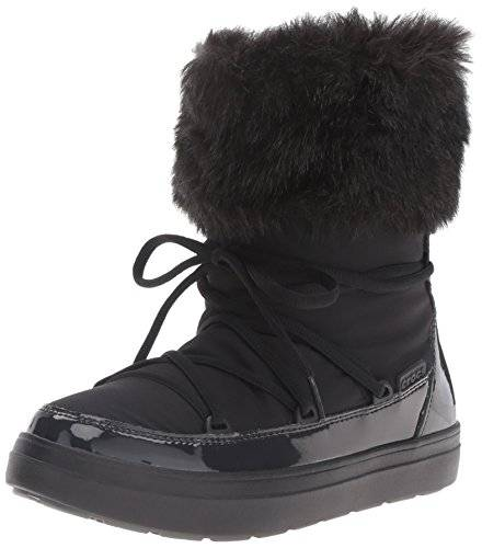 Crocs LodgePoint Lace Boot Women, Mujer Bota, Negro (Black), 42-43 EU