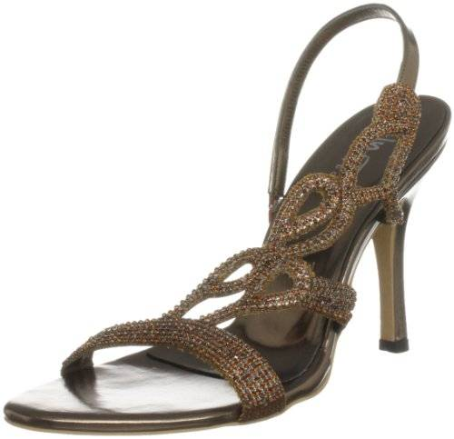 Unze Evening Sandals L18184W - Sandalias para mujer, color marrón, talla 38