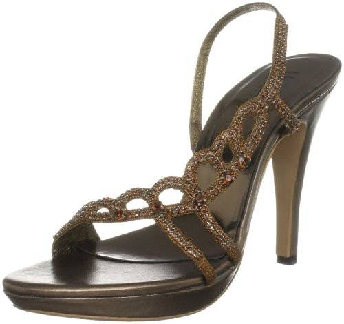 Unze Evening Sandals L18457W - Sandalias para mujer, color marrón, talla 37