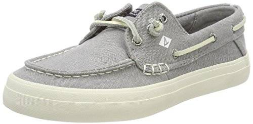 Sperry SperryCrest Resort Washed Can. Grey - Calzado Para navegar Mujer, Color Gris, Talla 39