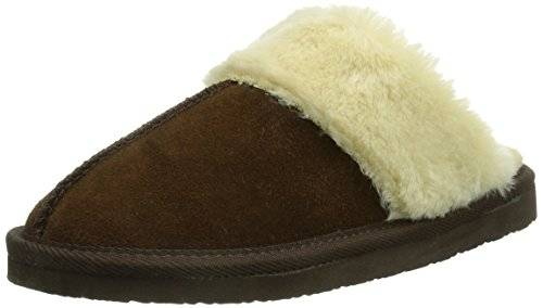 Minnetonka - Chesney Scuff, Pantuflas Mujer, Marrón (Chocolatechocolate), 37 EU