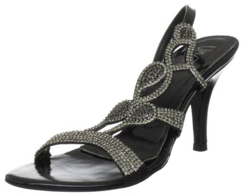 Unze Evening Sandals L18189W - Sandalias para mujer, color negro, talla 41