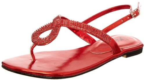 Unze Evening Sandals L18271W - Sandalias para mujer, color rojo, talla 37
