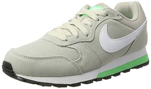 Nike Wmns Md Runner 2, Zapatillas Mujer, Multicolor (Pale Grey/white-electro Green), 36.5