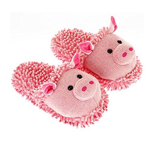 Aroma Home Shoes Pig Fuzzy Friends Slipper - Pantuflas de Material Sintético mujer M