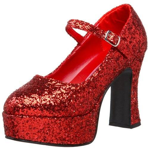 Pleaser Mar50g/r - Mary Jane Shoes, color Rojo, talla 45