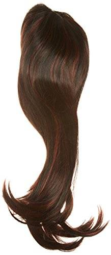 Forever Young Xxx Long Black Fashion Wig In 2 Tone Black Red Mix. Amazing Vogue Wigs Uk! + Free Wig Cap