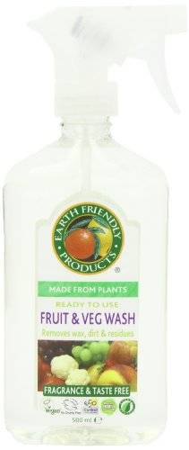 Earth Friendly Products Earth Friendly Productos de frutas y verduras Wash 500 ml (Pack de 6)