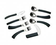 Ability Superstore Easi Hold Cutlery - Cuchara de postre curva para diestros
