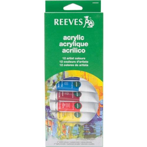 Reeves PINT.ACRILICO cj.12 colores 10ml