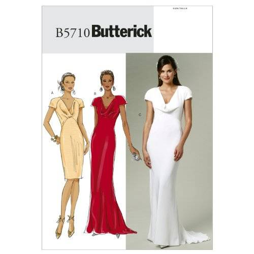 Butterick Patterns The McCall Pattern Company B5710 - Patrones e instrucciones para hacer vestidos (tallas 34 a 42), color blanco