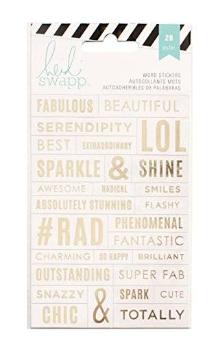 American Crafts Heidi Swapp Stickers-Word Jumbles - Clear/Gold